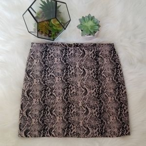 Free People Snake Skin Print Mini Skirt Size 8